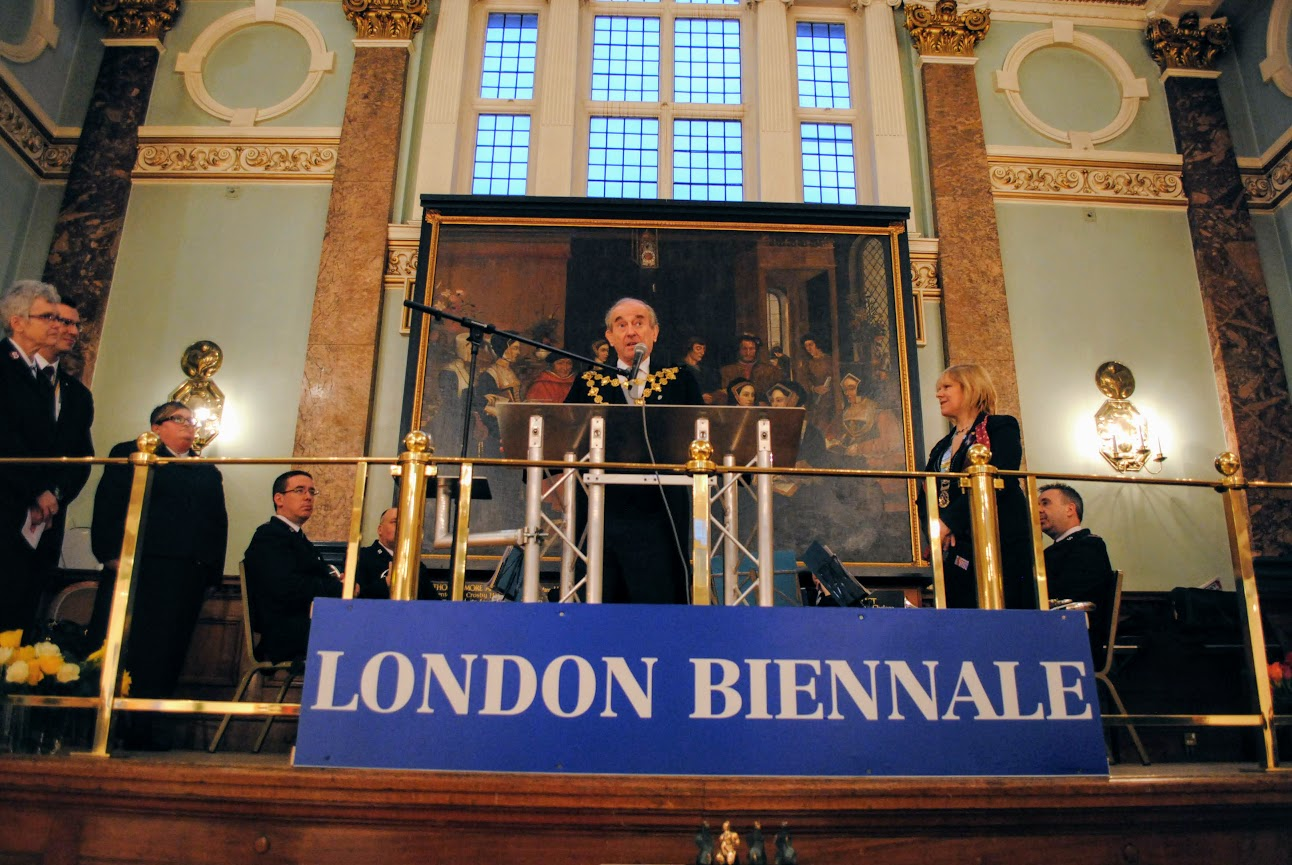 Councillor Christopher Buckmaster, Mayor of Kensington and Chelsea at the London Art Biennale 2013